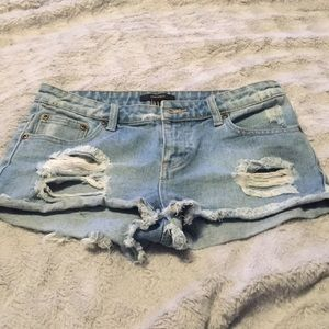 Forever 21 size 26 distressed jean shorts